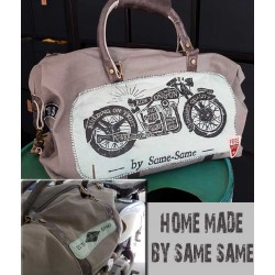 sac cuir & canvas home made